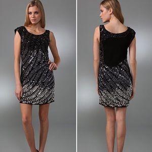 alice + olivia Black Ombre Sequin Charlie Dress